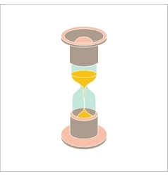 color hourglass icon on white background vector image vector image