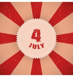 Fourth of July Badge vector image