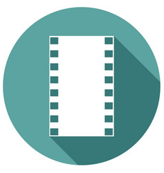 icon film with a long shadow vector image