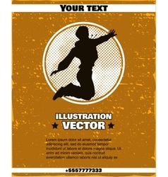 Poster Jumping Girl vector image