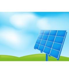 Solar panel on a blue sky vector image