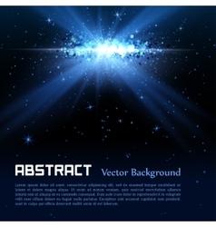 Blue spotlight background vector image vector image
