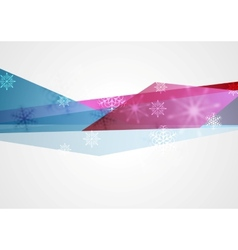Concept tech winter Christmas background vector image vector image