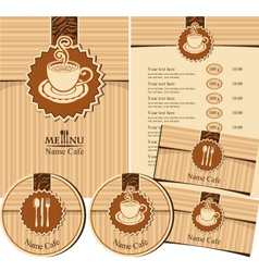 design elements for a cafe vector image vector image