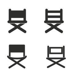 Director chair icon set vector