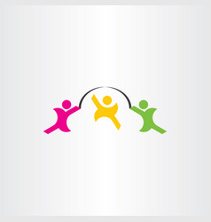 kids play jumping rope icon vector image