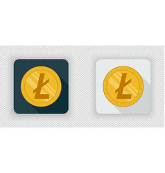 light and dark crypto currency icon litecoin vector image vector image