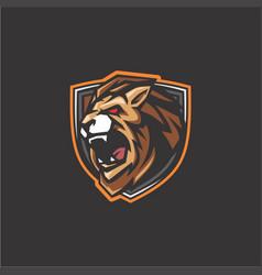 lion mascot vector image