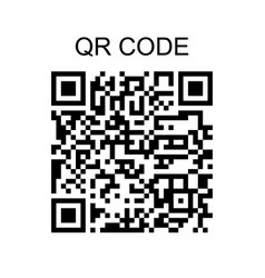 qr code sample icon isolated on white background vector image