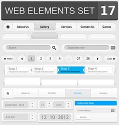 web elements set 17 vector image vector image