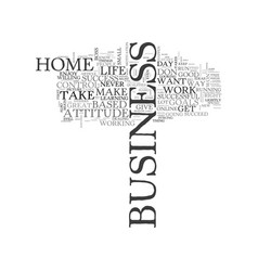 are you right for a home based business text word vector image vector image