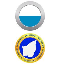 button as a symbol SAN MARINO vector image