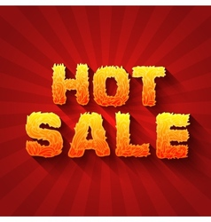 Fire hot sale text on a red background concept vector image