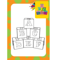 Letter cubes toys vector image