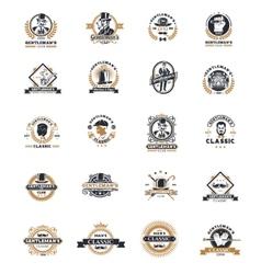 Set of vintage gentleman emblems labels vector image