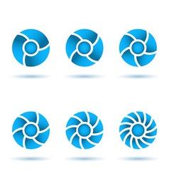 Six segmented circles vector image vector image