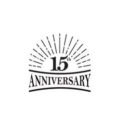 15th year anniversary emblem logo design template vector