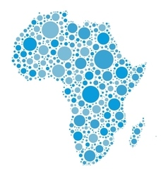 Africa map mosaic of blue dots vector