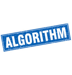 Algorithm square stamp vector