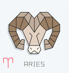 Aries sign vector