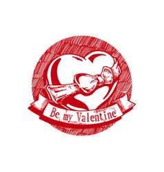 be my valentine vector image