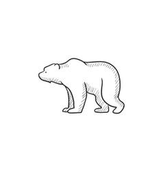 Bear sketch icon vector image