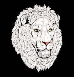 Beautiful lion artwork detailedafrican predator vector