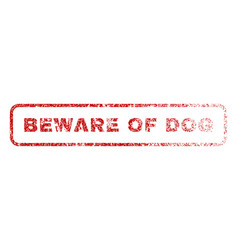 beware of dog rubber stamp vector image