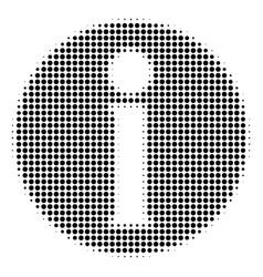 Black pixel info icon vector