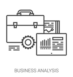 Business analysis line infographic vector image