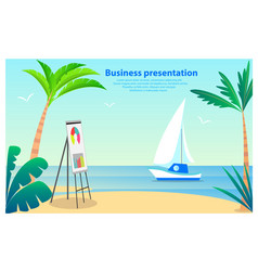 Business presentation poster vector