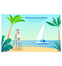 business presentation poster vector image