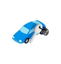 Car evacuated icon isometric 3d style vector