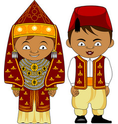 Cheerful african couple from algeria vector