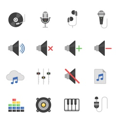 Color icon set - audio vector