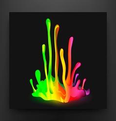 Colorful drop paint splatter background vector
