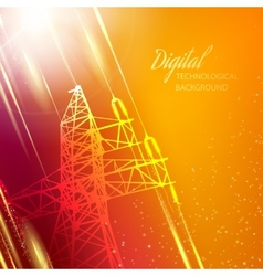 Electric power transmission tower vector