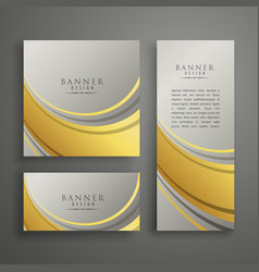 elegant abstract premium card or banner design in vector image