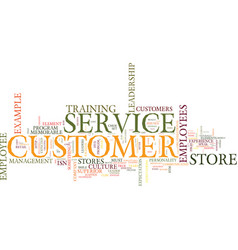 Elements to customer service a fresh look text vector
