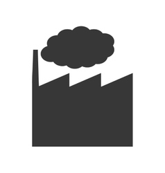 Factory industry plant smoke icon graphic vector