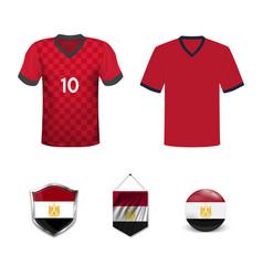 Flag shirt design egypt vector