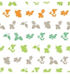 Forest Berries Nuts Silhouettes Seamless vector image