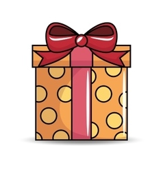 gift birthday present icon vector image