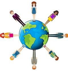 Global network of people vector image