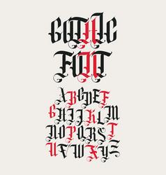 gothic font set vintage alphabet letters vector image
