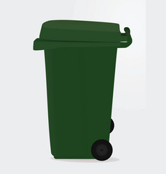 Green waste bin vector