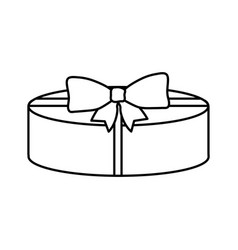 isolated gift design vector image