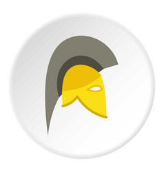 Knight helmet icon circle vector