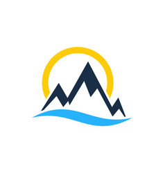 light mountain logo icon design vector image
