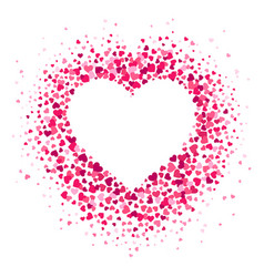 Love heart frame scattered hearts confetti vector